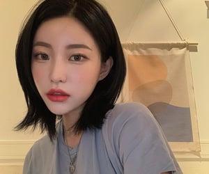 korean and korean girl image