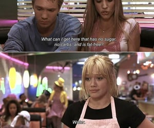 funny, water, and Hilary Duff image