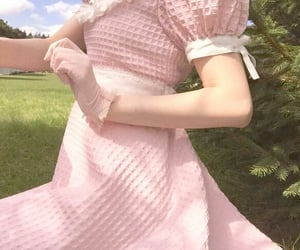 dress, field, and grass image