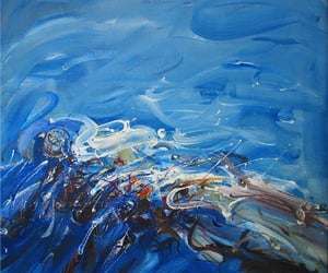 Abstract Painting, artist, and contemporary art image