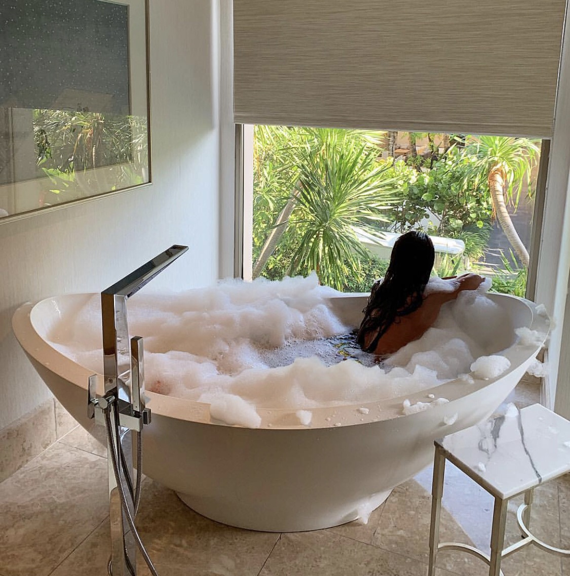 bath, luxury, and relax image