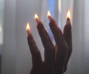 fire, nails, and aesthetic image