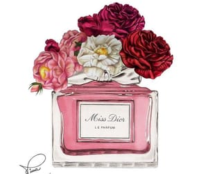 art, dior, and flowers image