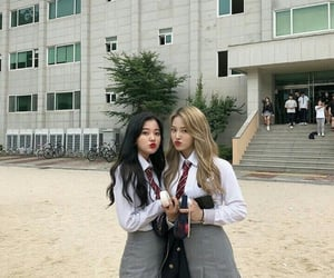 school and ulzzang image