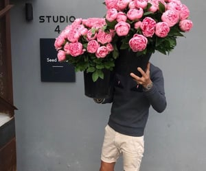 flowers, beauty, and boy image