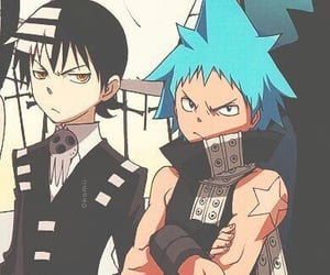 best friends, black and white, and soul eater image