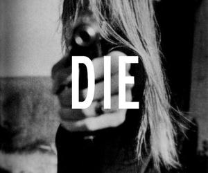 die, girl, and black and white image