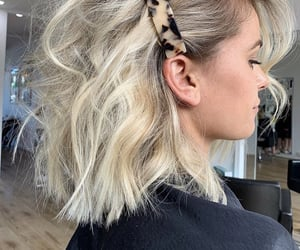 blonde, short hair, and waves image
