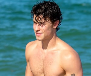 shawn mendes, beach, and Hot image