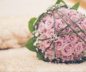 banquet, pink, and flowers image