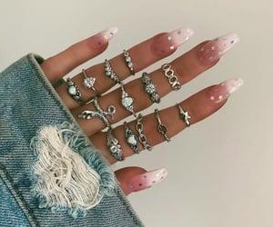 acrylics, denim, and nails image