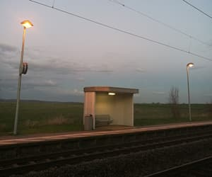 lights, lonely, and sunset image
