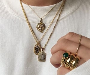 gold, jewelry, and fashion image