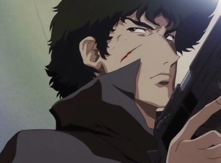 anime, spike spiegel, and tamaki suou image