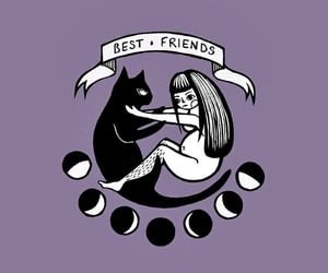 wallpaper, best friends, and cats image