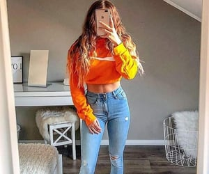 abs, fashion style, and jeans image