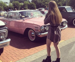 auto, car, and pink image