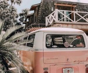 summer, pink, and car image