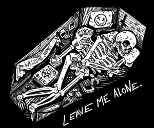 skeleton, coffin, and dead image