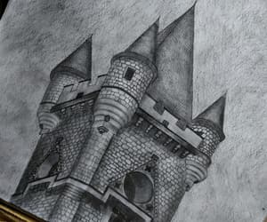 art, pencil drawing, and castle miranda image