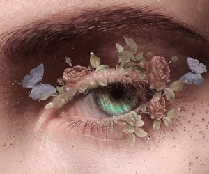 flowers, aesthetic, and eyes image