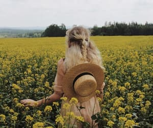 aesthetic, yellow, and blonde image