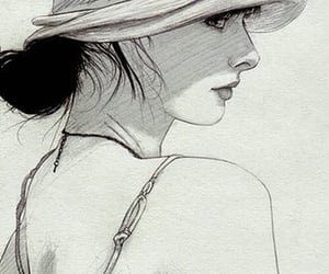 illustration, drawing, and woman image
