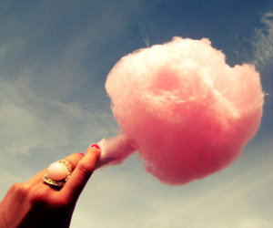 candy, candyfloss, and clouds image