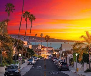 summer, california, and sunset image