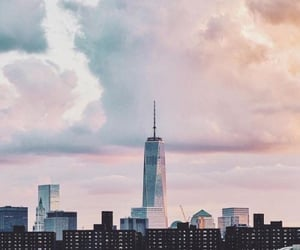 city, pretty, and sky image