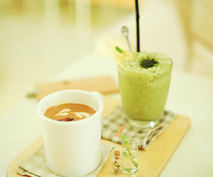 coffee, green, and drink image