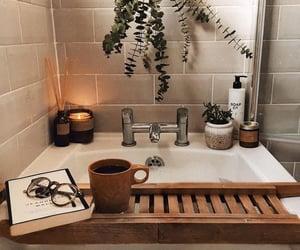 bath, bathroom, and book image