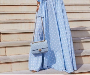 blue, blue dress, and chanel image