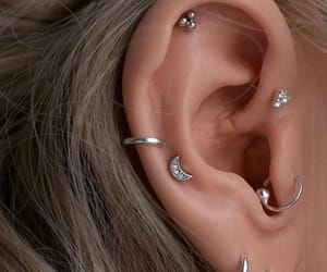 earring, grunge, and piercing image