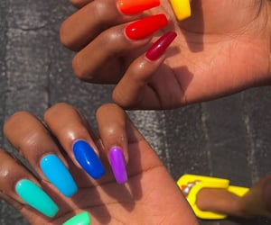 acrylics, aesthetic, and long nails image