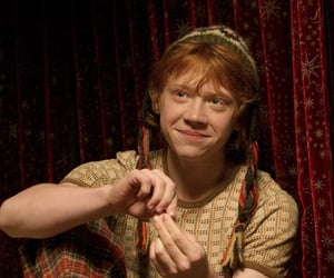 harry potter, rupert grint, and black and white image
