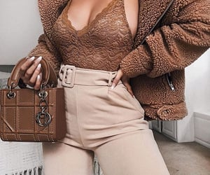 body, brown purse, and dior image