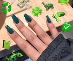 acrylics, coffin, and green image