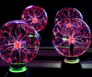 colorful, electricity, and spheres image