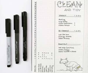 cleaning, tracker, and bujo image