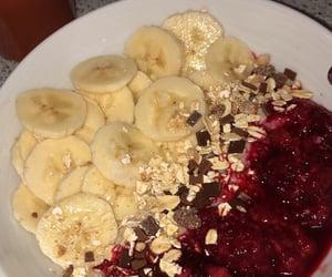 banana, food, and granola image