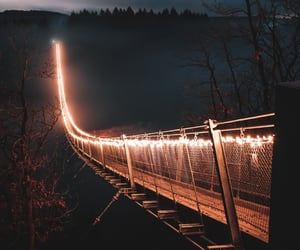 bridge, night, and photography image