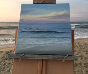 art, beach, and pretty image