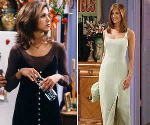 dress, outfit, and rachel green image