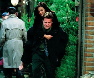 chandler bing, couple, and friends image
