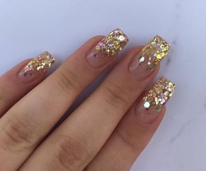 beauty, glitter, and gold image