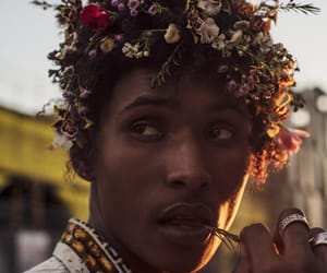 flowers, boy, and beauty image
