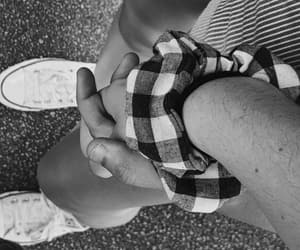 black and white, converse, and couple image