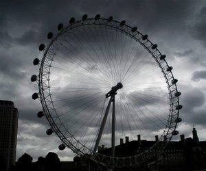 balck and white, london, and love image