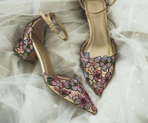 floral, shoes, and footwear image
